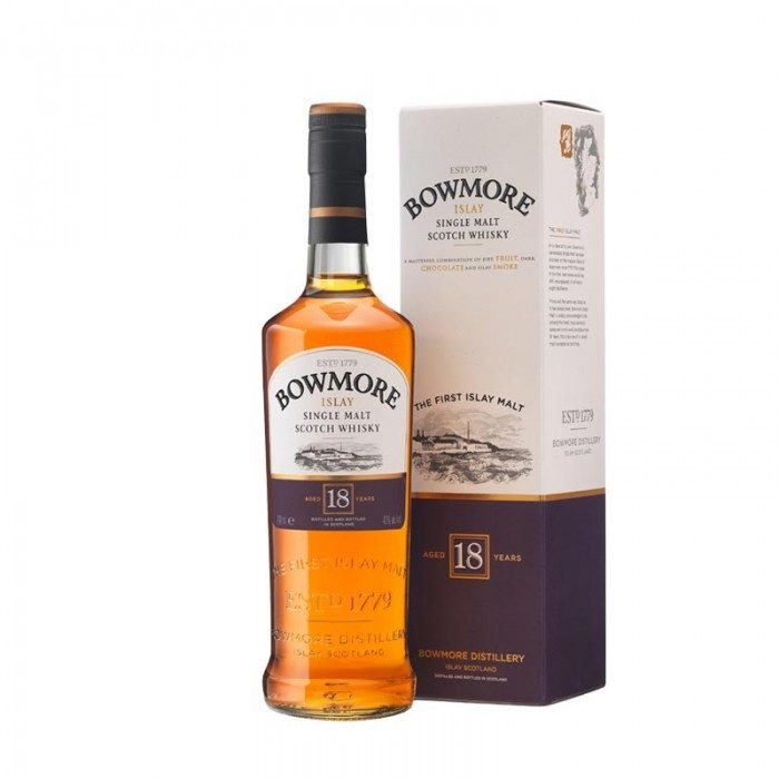 Bowmore 18 year old & free dram cup