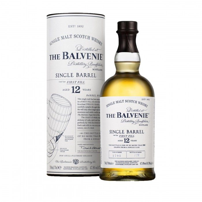 Balvenie 12 Year Old Single Barrel First Fill with box