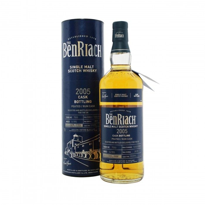 Benriach 2005 UK Exclusive Peated Rum Cask #7553