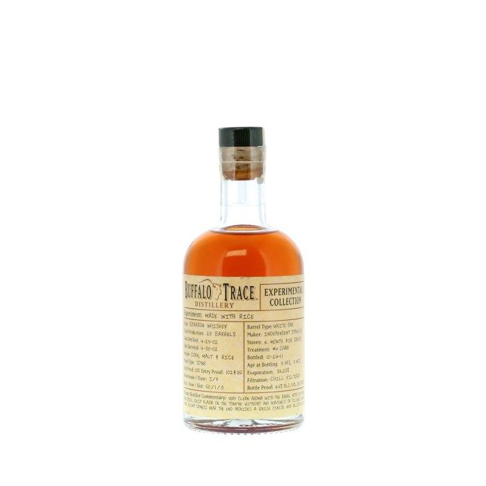 Buffalo Trace Rice Collection Experiment