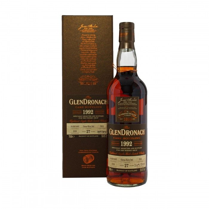 Glendronach 1992 27 Year Old #5852 with box