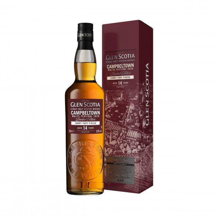 Glen Scotia 14 Year Old Tawny Port Finish Campbeltown Malts Festival 2020 with box