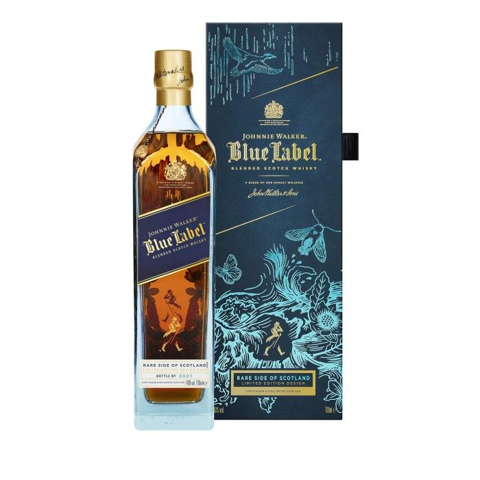 Johnnie Walker Blue Label Rare Side of Scotland with box