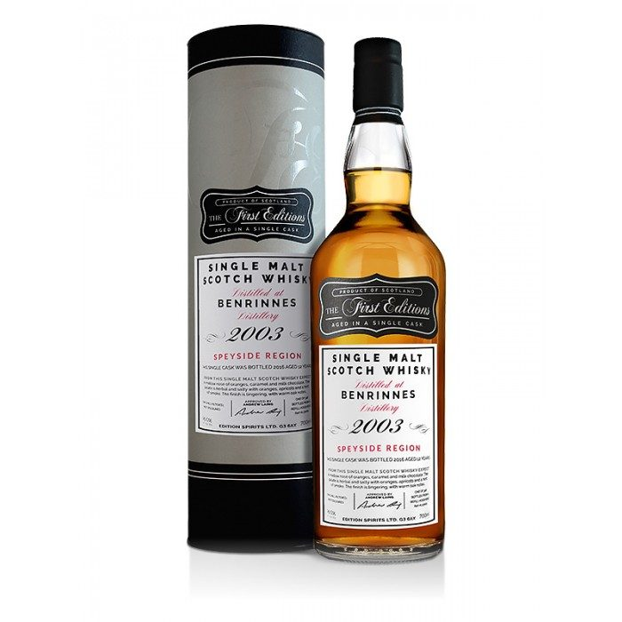 First Editions Benrinnes 2005 12 Year Old