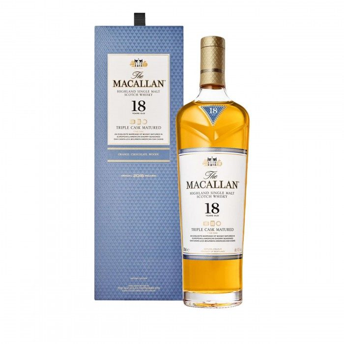 Macallan 18 Year Old Triple Cask  with box