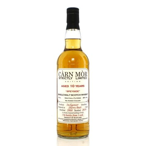 Inchgower 2008 10 Year Old Single Cask Carn Mor Strictly Limited