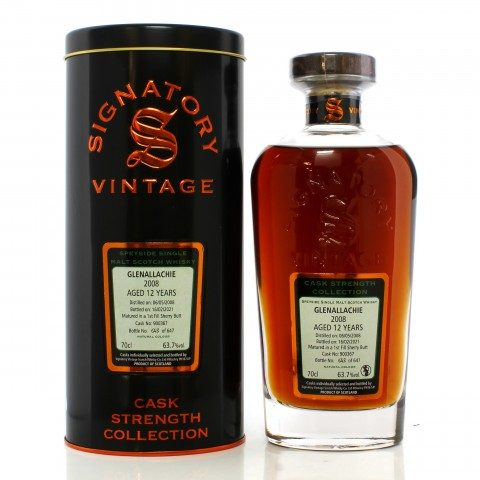 GlenAllachie 2008 12 Year Old Single Cask #900367 Signatory Vintage Cask Strength Collection