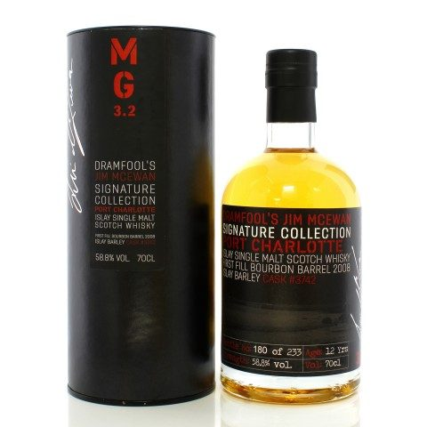 Port Charlotte 2008 12 Year Old Single Cask #3742 Dramfool's Jim McEwan Signature Collection 3.2
