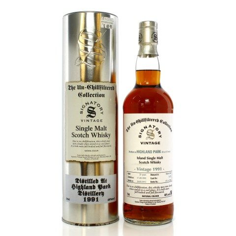 Highland Park 1991 21 Year Old Single Cask #13/72 Signatory Un-Chillfiltered Collection