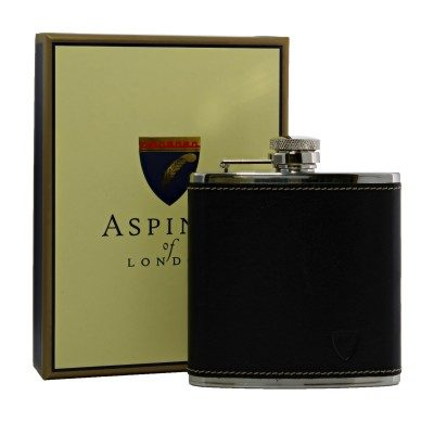 Aspinal Classic Leather Hip Flask 5oz with box