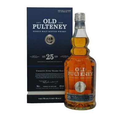 Old Pulteney 25 Year Old with box