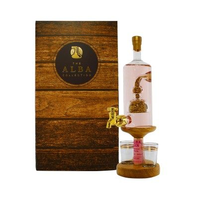 Stylish Barley Gin Decanter with 2 Glasses