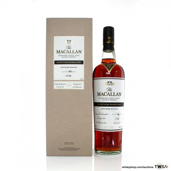 Macallan 2003 14 Year Old Single Cask #9100/13 Exceptional Cask #13 2017 Release
