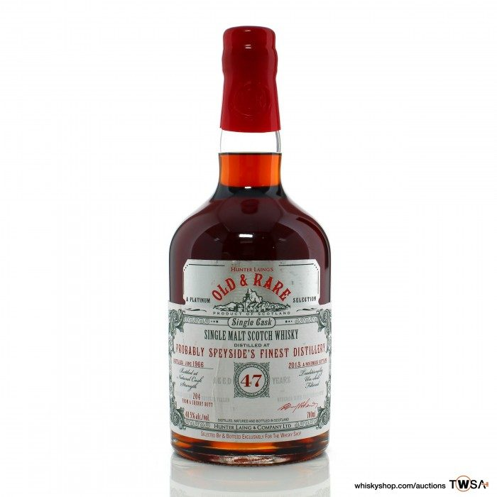 Probably Speyside's Finest 1966 47 Year Old Single Cask #13614 Hunter Laing Platinum Old & Rare - The Whisky Shop