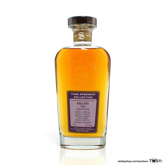 Kinclaith 1969 40 Year Old Single Cask #301445 Signatory Cask Strength Collection