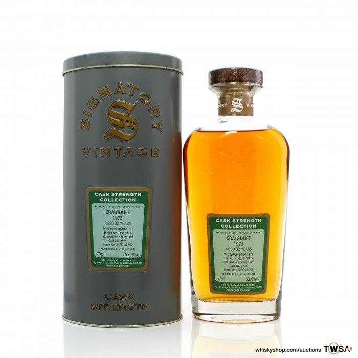 Craigduff 1973 32 Year Old Single Cask #2514 Signatory Vintage Cask Strength Collection