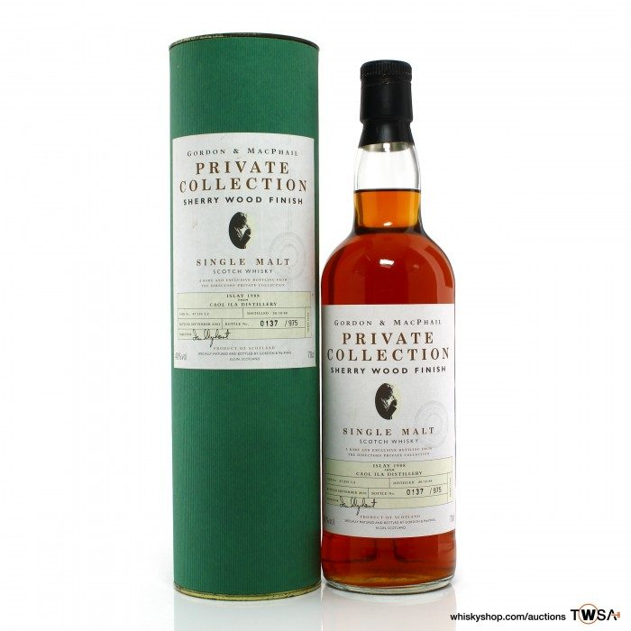 Caol Ila 1988 Gordon & MacPhail Private Collection Sherry Wood Finish