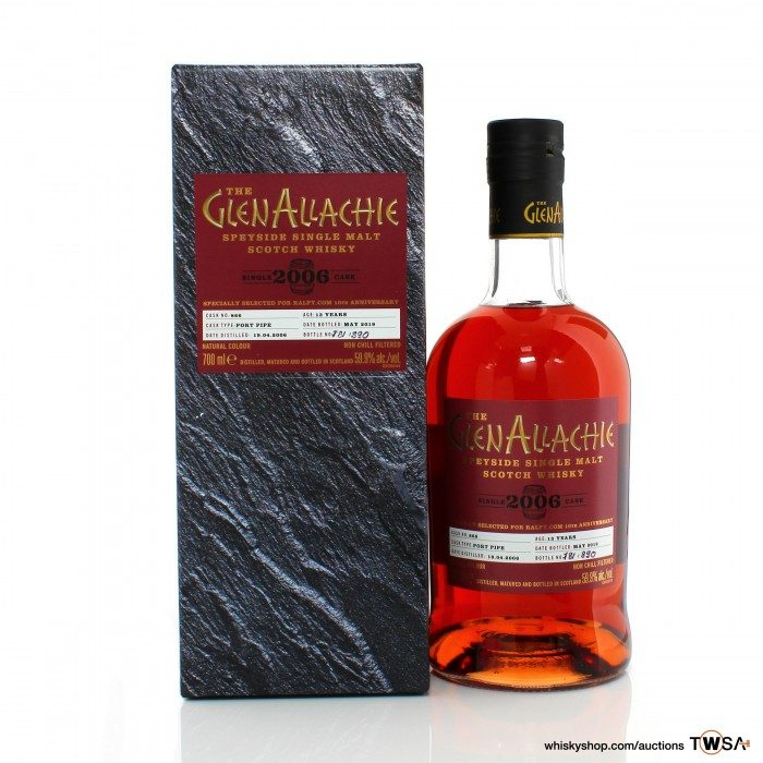 GlenAllachie 2016 13 Year Old Single Cask #866 - Ralfy.com 10th Anniversary