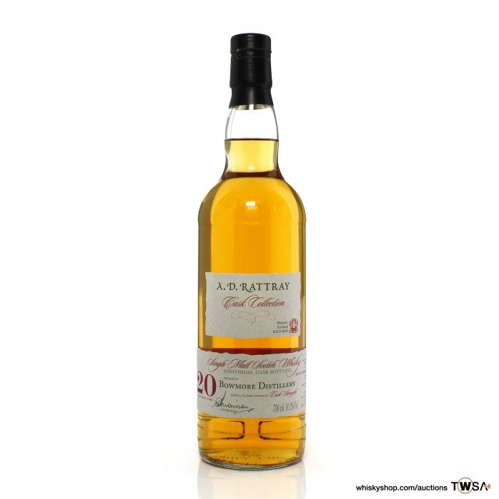 Bowmore 1990 20 Year Old Single Cask #272 A.D. Rattray Cask Collection