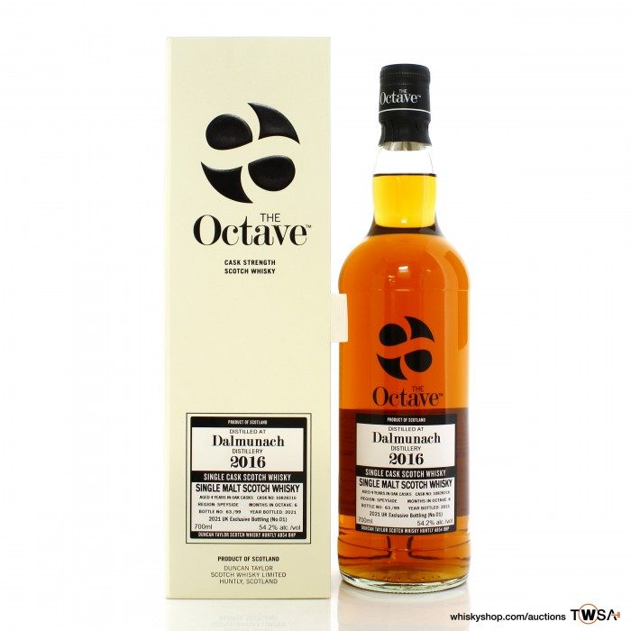 Dalmunach 2016 4 Year Old Single Cask #10828316 Duncan Taylor The Octave - UK