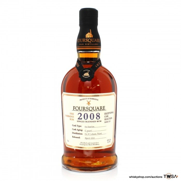 Foursquare 2008 12 Year Old Exceptional Cask Selection
