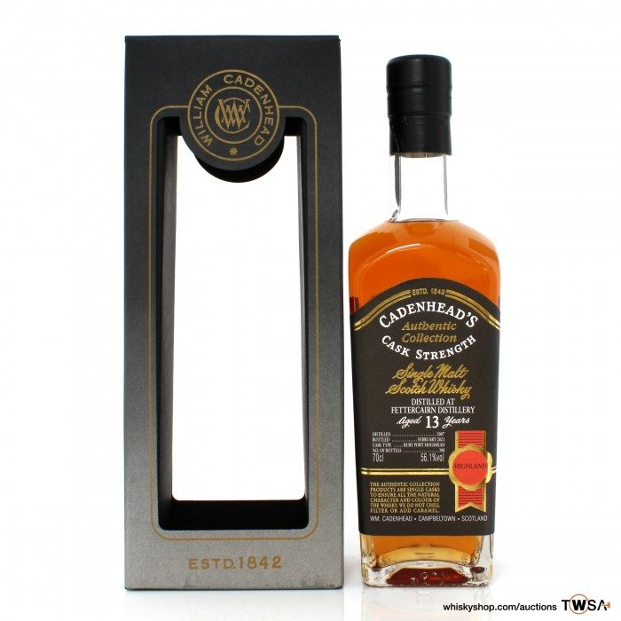 Fettercairn 2007 13 Year Old Cadenhead's Authentic Collection