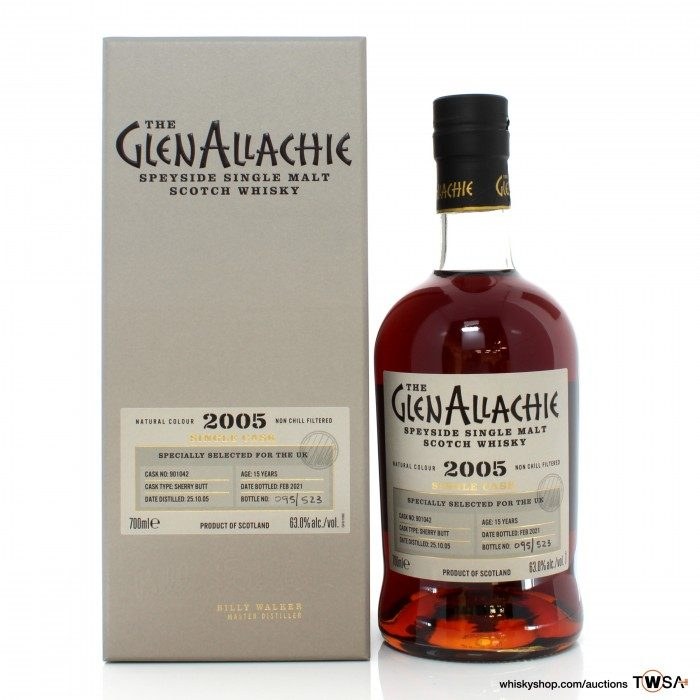 GlenAllachie 2005 15 Year Old Single Cask #901042 - UK Exclusive