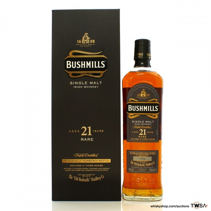 Bushmills 21 Year Old 2020 Release
