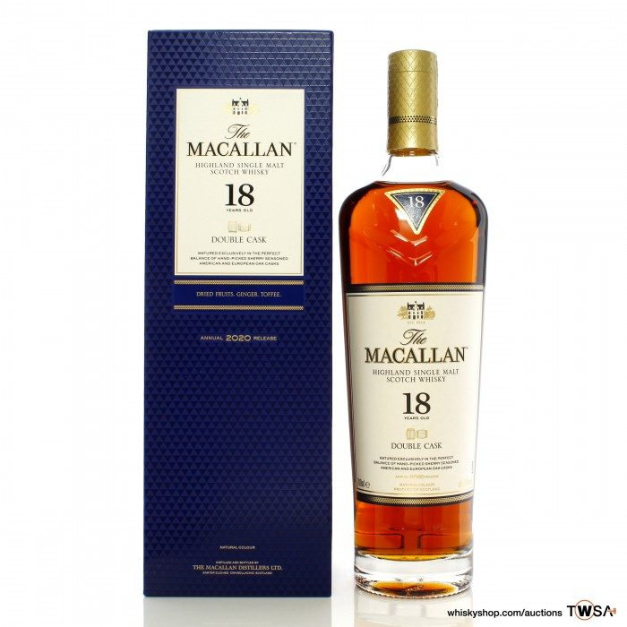 Macallan 18 Year Old Double Cask 2020 Release