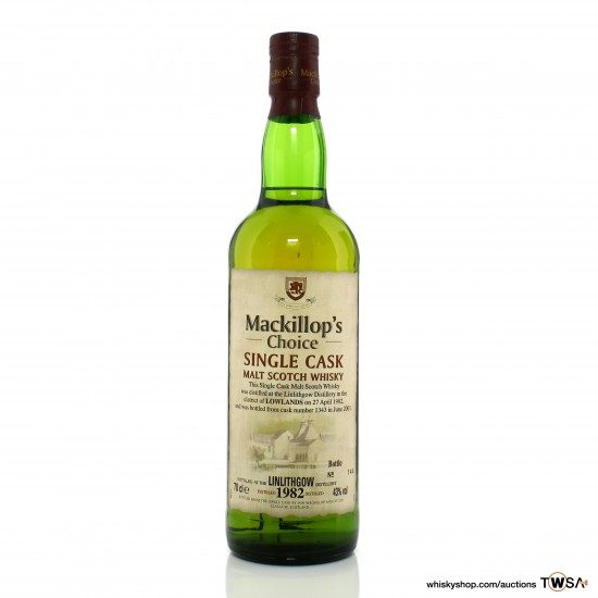 Linlithgow 1982 19 Year Old Single Cask #1343 Mackillop's Choice - World of Whiskies