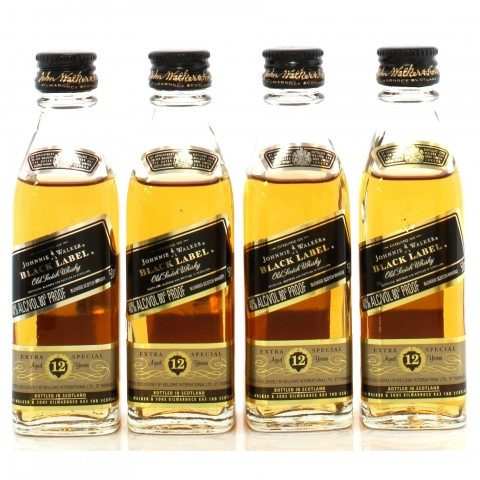 Johnnie Walker 12 Year Old Black Label x4