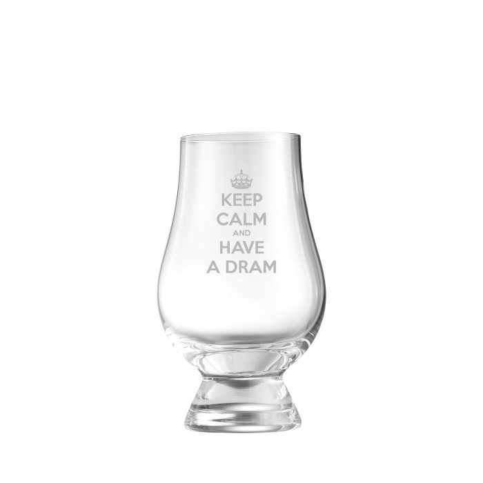 Keep Calm And Have a Dram Glencairn Whisky Glass
