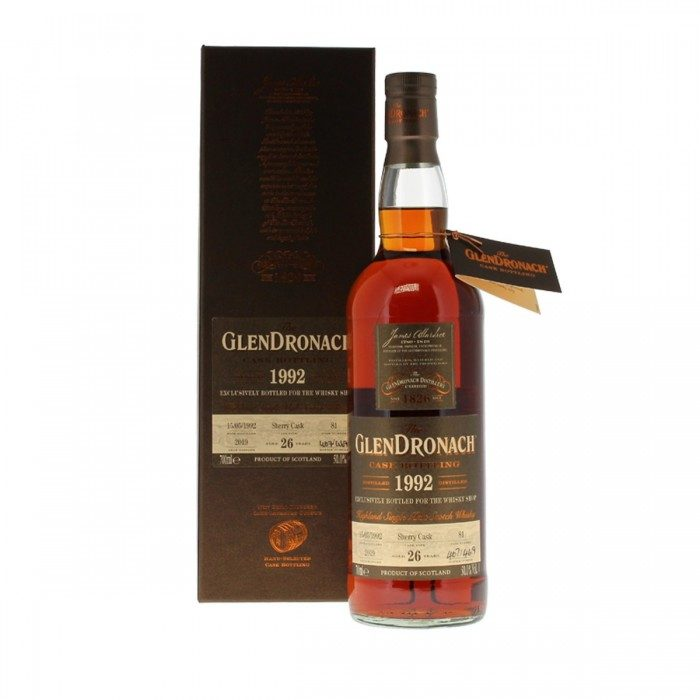 GlenDronach 1992 26 Year Old The Whisky Shop Exclusive with box