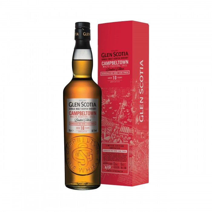 Glen Scotia 10 Year Old Bordeaux Red Wine Finish Campbeltown Malts Festival 2021