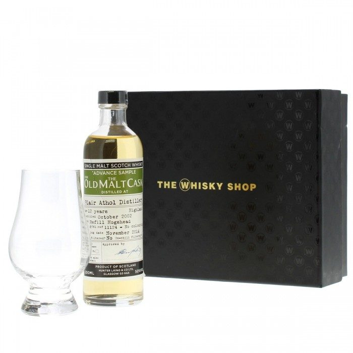 Old Malt Cask Blair Athol 12 Year Old with Glass