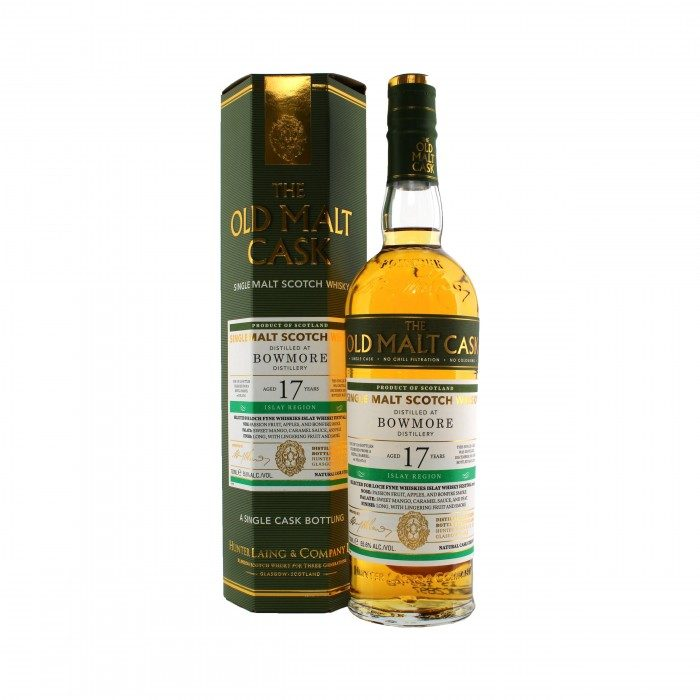Old Malt Cask Bowmore 17 Year Old with box