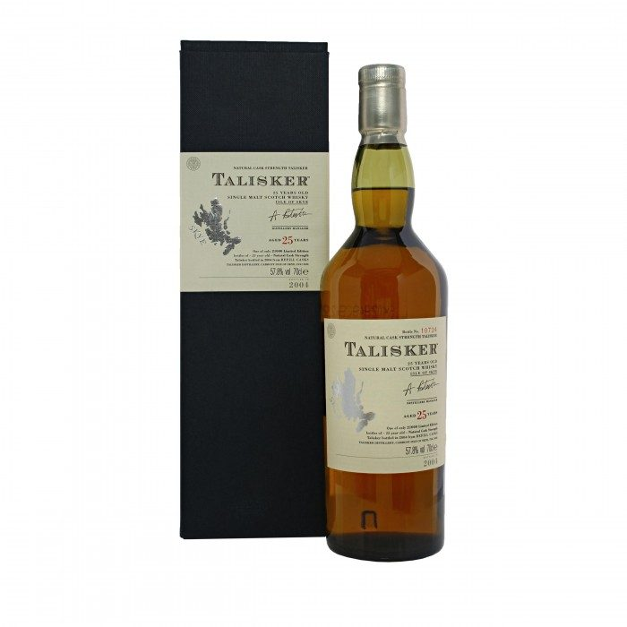 Talisker 25 Year Old 2004 with box