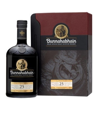 Bunnahabhain 25 year old with case