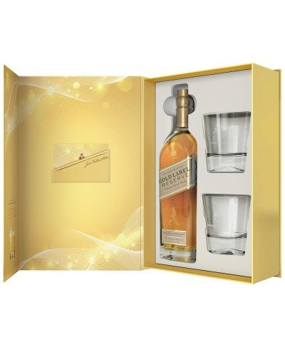 Johnnie Walker Gold Label Glass Gift Set