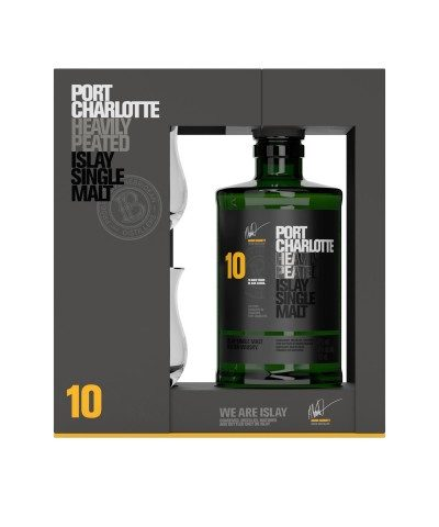 Port Charlotte 10 Year Old Gift Pack with 2 Glasses
