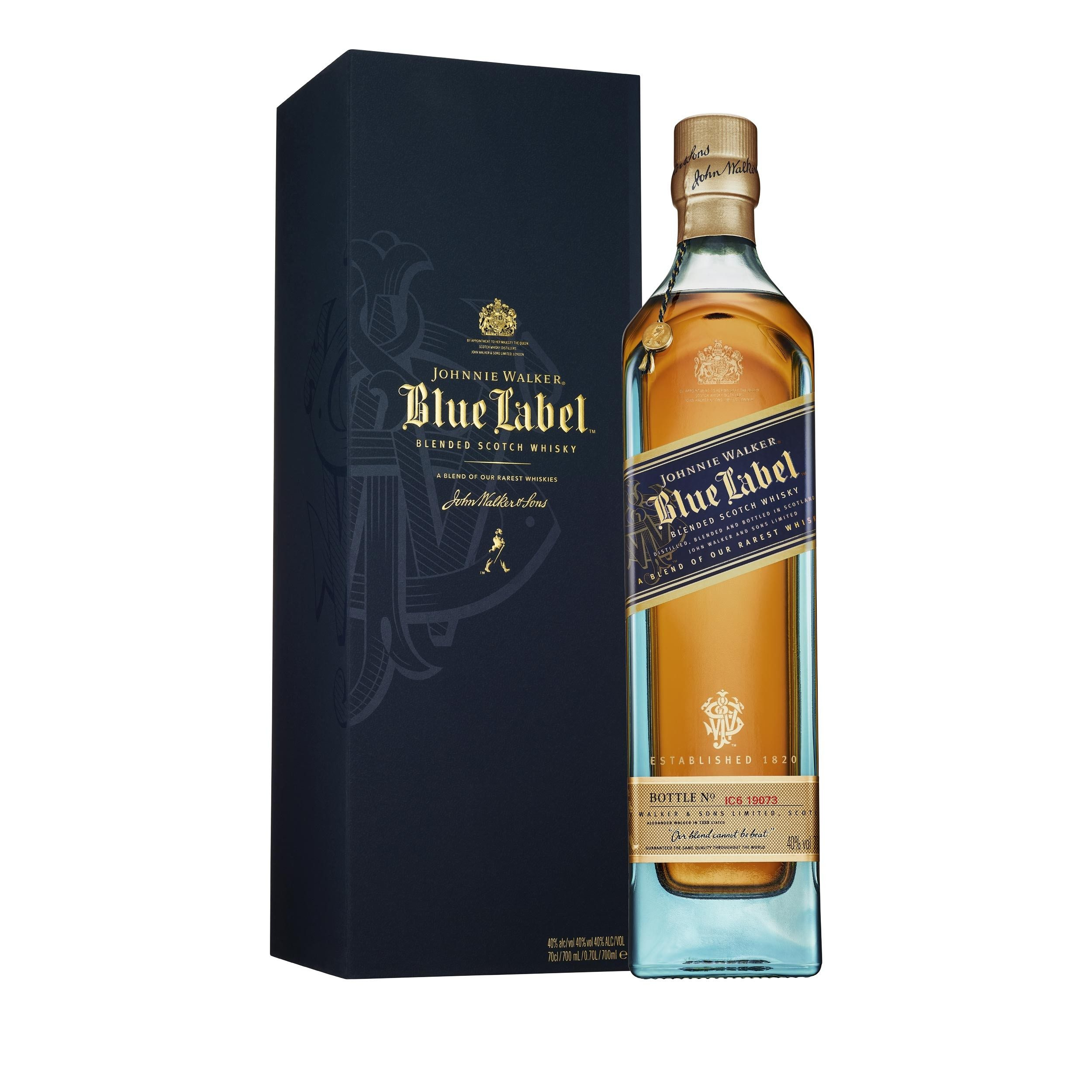 It is a graphic of Monster Johnnie Walker Blue Label Madrid Edition