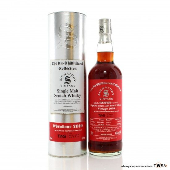 Edradour 2010 10 Year Old Single Cask #160 Signatory Un-Chillfiltered Collection - TWB