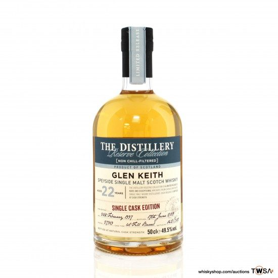 Glen Keith 1997 22 Year Old Single Cask #27969 Distillery Reserve Collection