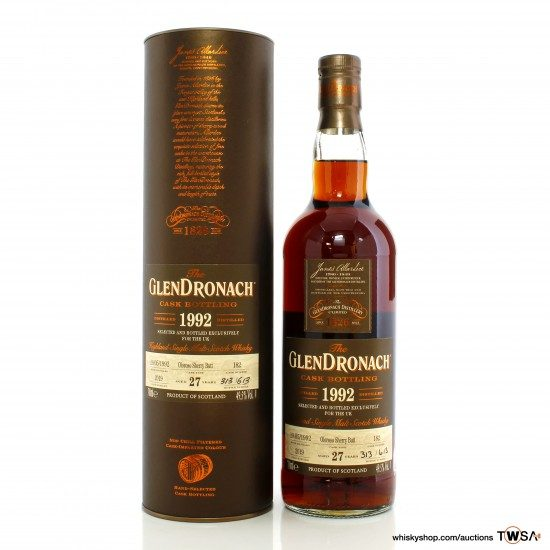 GlenDronach 1992 27 Year Old Single Cask #182 - UK Exclusive