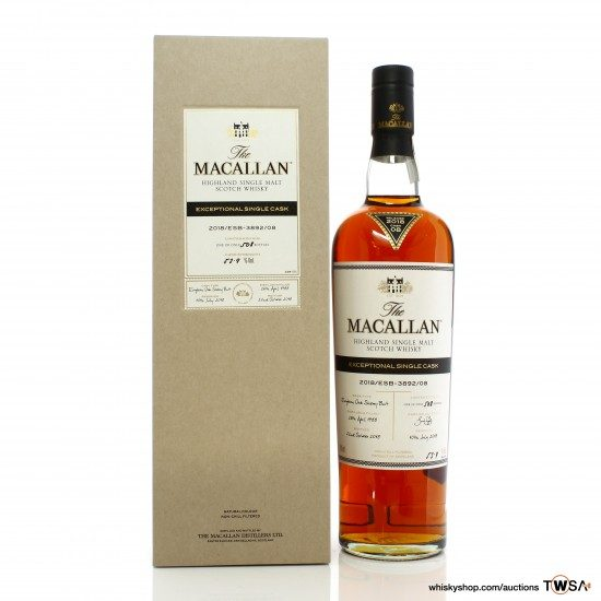 Macallan 1988 30 Year Old Single Cask #3892/08 Exceptional Cask 2018 Release