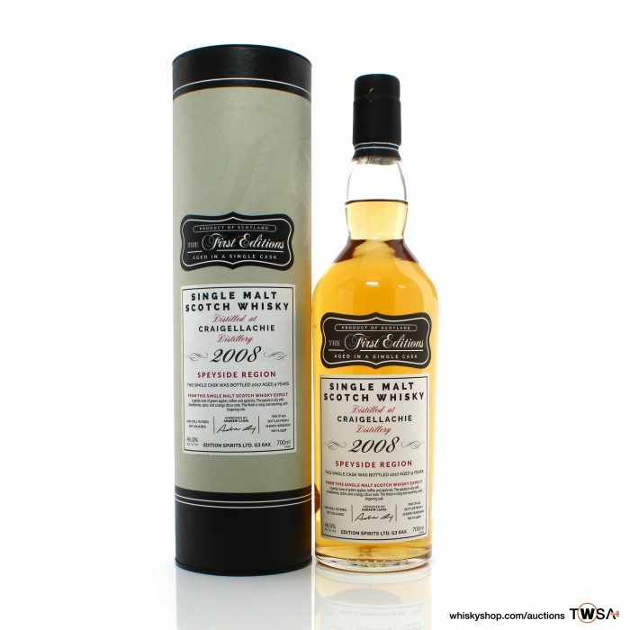 Craigellachie 2008 9 Year Old Single Cask #13538 Hunter Laing First Editions