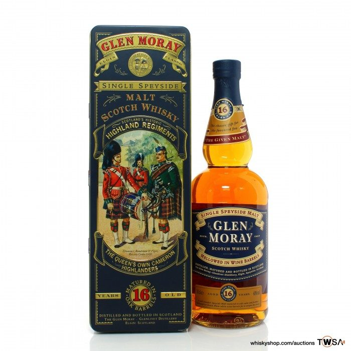 Glen Moray 16 Year Old The Queen's Own Cameron Highlanders