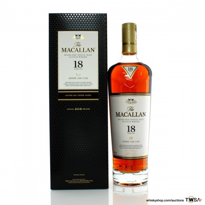 Macallan 18 Year Old Sherry Oak 2018 Release