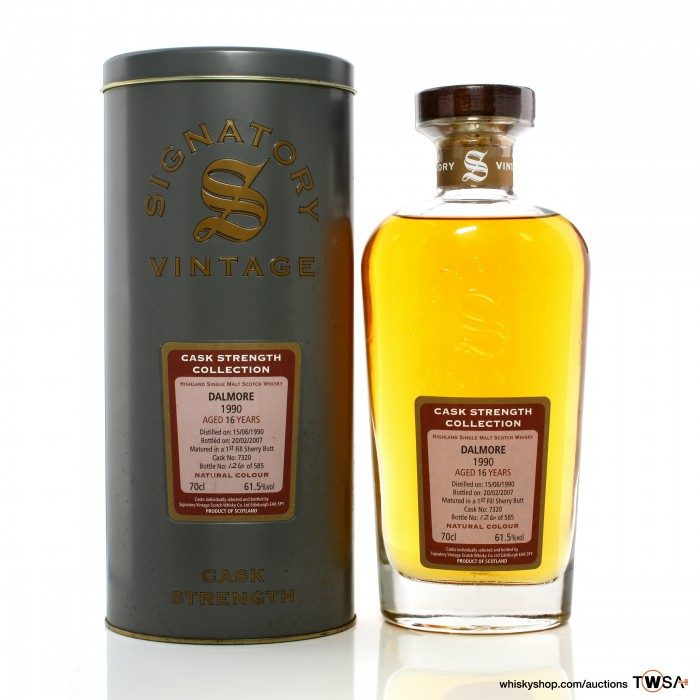 Dalmore 1990 16 Year Old Single Cask #7320 Signatory Cash strength Collection