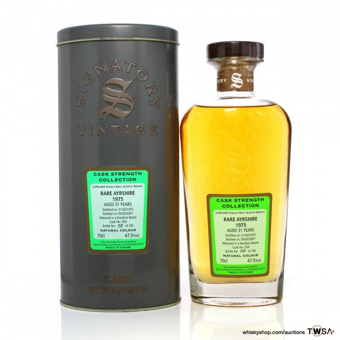 Rare Ayrshire (Ladyburn) 1975 31 Year Old Single Cask #554 Signatory Cask Strength Collection